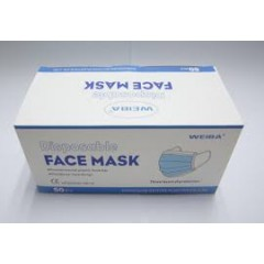 Weiba NM1-50 Non-Medical Disposable Face Mask Box Of 50