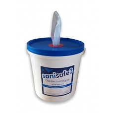Sanisafe W1033 Antibacterial & Antiviral Disinfectant Wipes Tub Of 1500