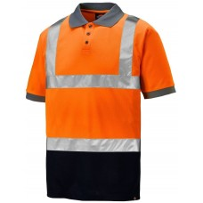 Dickies SA22076 Two Tone Hi-Vis Taped Polo Shirt