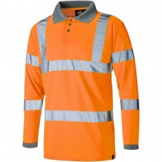 Dickies SA22077 Hi-Vis Long Sleeve Safety Polo Shirt