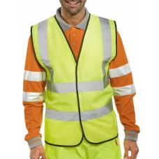 M1074 Hi-Vis Yellow Sleeveless Waistcoat - Customise