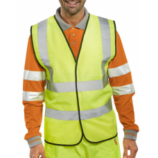 "M1074 Hi-Vis Waiscoat / Yellow ( 78"" Chest )"
