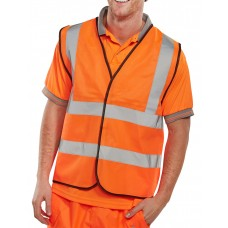 Uneek UC801 Hi-Vis Orange Sleeveless Waistcoat