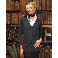 PR698 Ladies Long Line Knitted Cardigan
