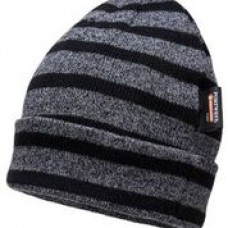 B024 Striped Insulated Knit Cap Insulatex Lined