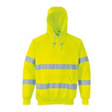 B304 Portwest Hi-Vis Hooded Sweatshirt