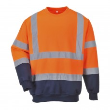 B306 Portwest Two Tone Hi-Vis Sweatshirt