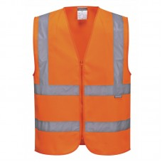 Portwest C375 Hi-Vis Zipped Band & Brace Vest