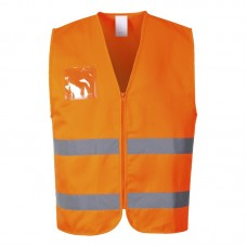 C497 Portwest Hi-Vis Polycotton Vest