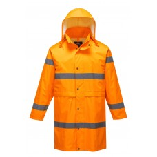Portwest H442 Hi-Vis Rain Coat 100cm