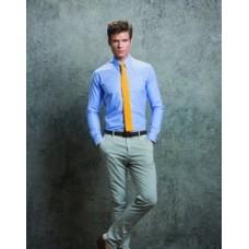Kustom Kit KK184 Slim Fit Workwear Oxford Long Sleeved Shirt