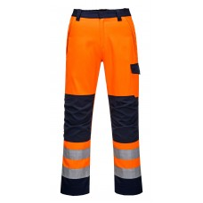 Portwest MV36 Modaflame RIS Orange/Navy Trouser