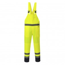 PJ52 Portwest Hi-Vis Contrast Bib and Brace - Unlined