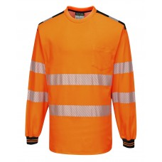Portwest T185 PW3 Hi-Vis Long Sleeve T-Shirt