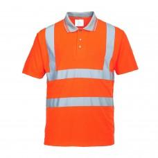 RT22 Portwest Hi-Vis Short Sleeved Polo Shirt GO/RT
