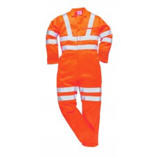RT42 Portwest Hi-Vis Poly-Cotton Coverall GO/RT