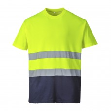 S173 Portwest Two-Tone Cotton Comfort T-shirt