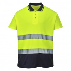 S174 Portwest Two Tone Cotton Comfort Polo