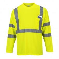 Portwest S191 Hi-Vis Long Sleeve Pocket T-Shirt