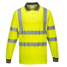 Portwest S271 Long Sleeved Cotton Comfort Polo