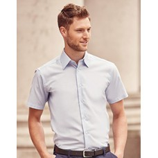 923M Russell Mens Short Sleeve Easy Care Tailored Oxford Shirt