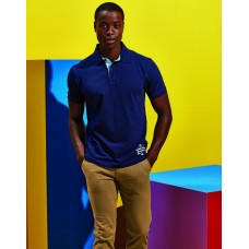 Asquith And Fox AQ016 Cotton Polo With Oxford Fabric Insert