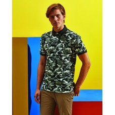 Asquith And Fox AQ018 Camo Pique Polo
