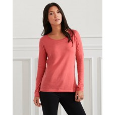 AV122 Ladies Featherweight Long Sleeve Scoop Tee