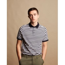 Front Row & Co FR230 Striped Jersey Polo Shirt