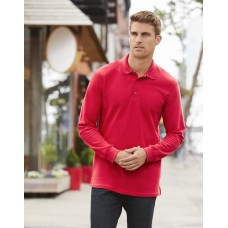 Gildan GD48 Premium Cotton Adult Long Sleeve Double Pique Polo