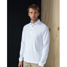 Henbury H105 Long Sleeve Cotton Polo Shirt