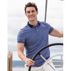 H151 Mens Two-Tone Pique Tipped Polo
