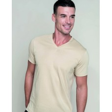 KARIBAN KB357 Mens Short Sleeve V-Neck T-Shirt