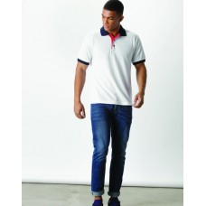 Kustom Kit KK404 Classic Fit Contrast Collar And Placket Poloshirt