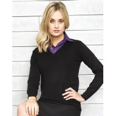 PR696 Ladies V-Neck Knitted Sweater