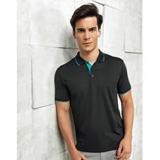 Premier  PR618 Mens' Contrast Coolchecker  Pique Polo