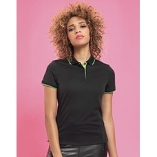 PR619 Ladies' Contrast Coolchecker Piique Polo