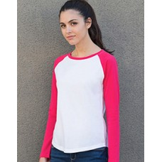 ST271  Ladies Long Sleeved Baseball T
