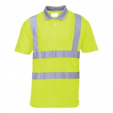 Portwest S477 Hi-Vis Short Sleeved Polo Shirt