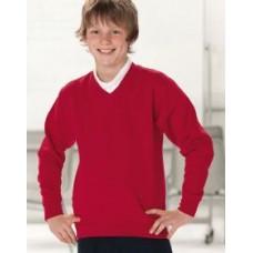 272B Russell Kids V-Neck Sweatshirt