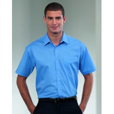 935M  Short Sleeve Polycotton Easy Care Poplin Shirt