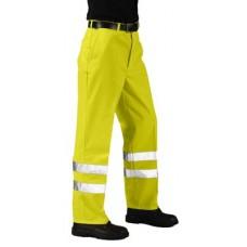 E041 Hi-Vis Poly-Cotton Trousers