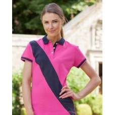 FR213 Ladies Diagonal Stripe House Polo