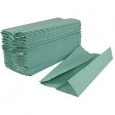 P6002 1 ply C-Fold Paper Hand Towels Green