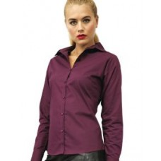 PR300 Ladies Poplin Long Sleeve Blouse