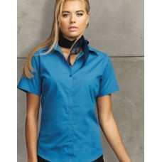 PR302 Ladies Short Sleeve Poplin Blouse