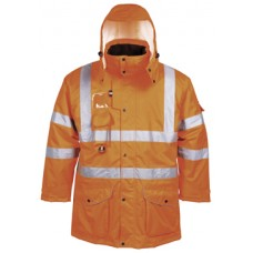 RT27 Hi-Vis 7-in-1 Traffic Jacket, GO/RT