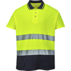 S174 Two Tone Cotton Comfort Polo