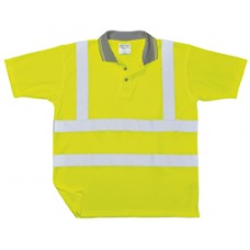 S177 Portwest Hi-Vis Ribbed Polo Shirt