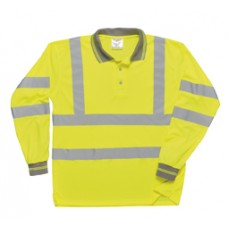 S277 Hi-Vis Long Sleeved Polo Shirt